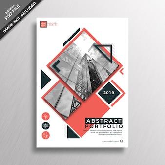Abstract portfolio cover mockup