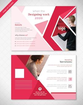 抽象的なポストカードデザイン