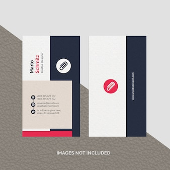 Abstract professional business card template