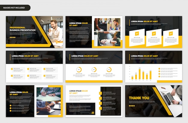 Abstract project overview slider template