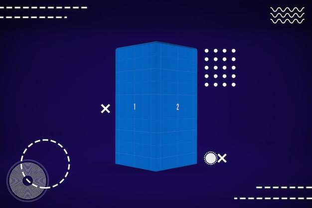 抽象長方形ボックスモックアップ
