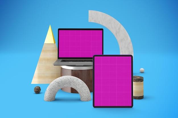 Abstract responsive mockup
