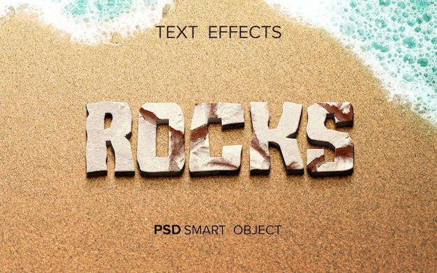 Abstract rock text effect