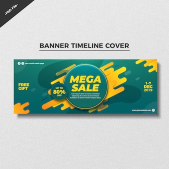 Abstract sale banner timeline cover template