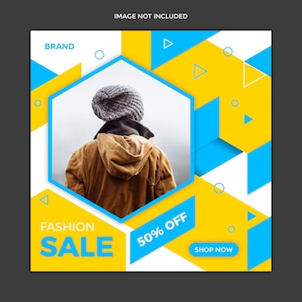 Abstract sale social media instagram post template