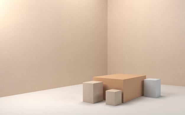製品ディスプレイの3dレンダリングの抽象的なシーン