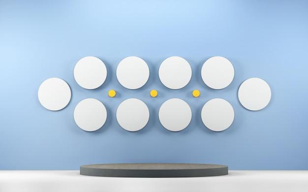 Абстрактная сцена для демонстрации продукта с геометрическими фигурами