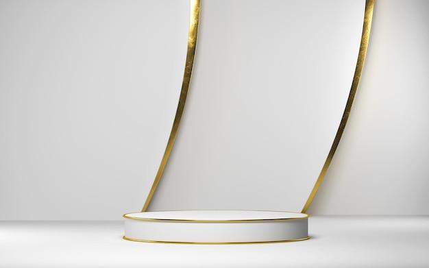 기하학적 모양의 제품 디스플레이를위한 추상 장면