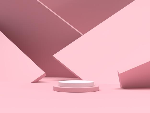 Абстрактный подиум формы геометрии сцены для отображения продукта