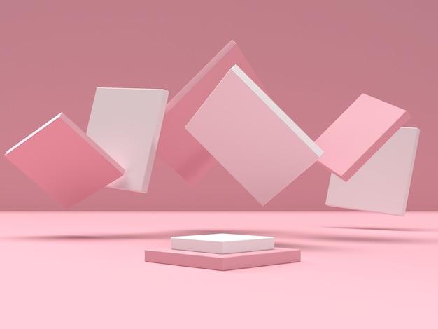 제품 전시를위한 추상적 인 장면 기하학 모양 연단