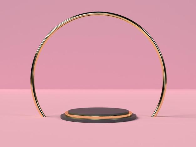 Абстрактный подиум в форме геометрии сцены в 3d-рендеринге