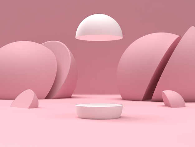 Abstract scene geometry shape podium for product display