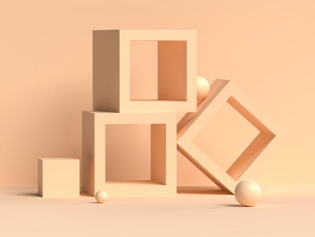 Абстрактная сцена геометрия форма рендеринга подиума