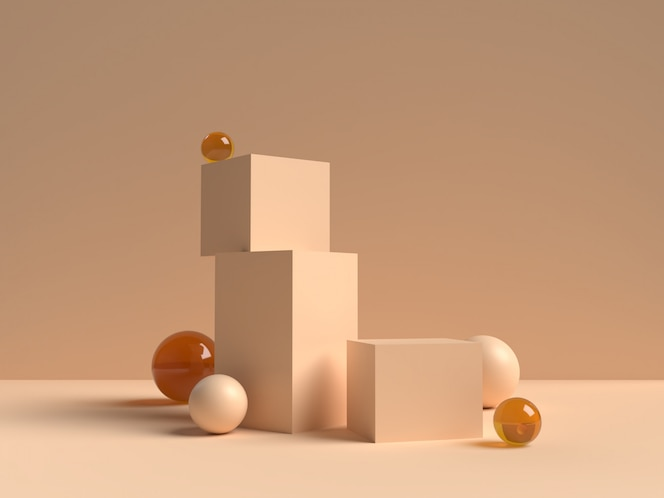 Abstract scene geometry shape podium rendering