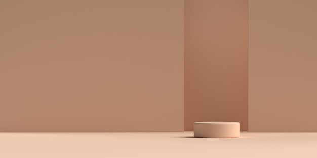 Абстрактная сцена геометрическая форма рендеринга подиума