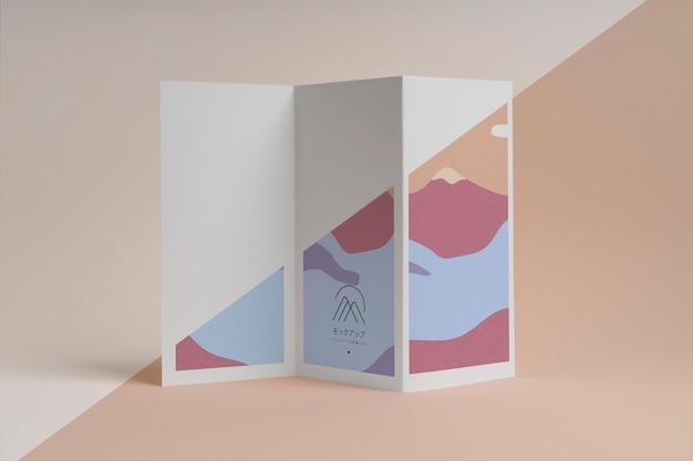 Abstract shapes brochure mock-up