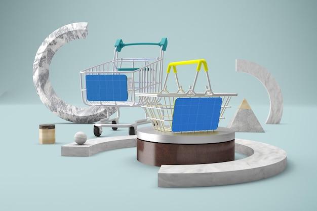 抽象的なショッピングモックアップ