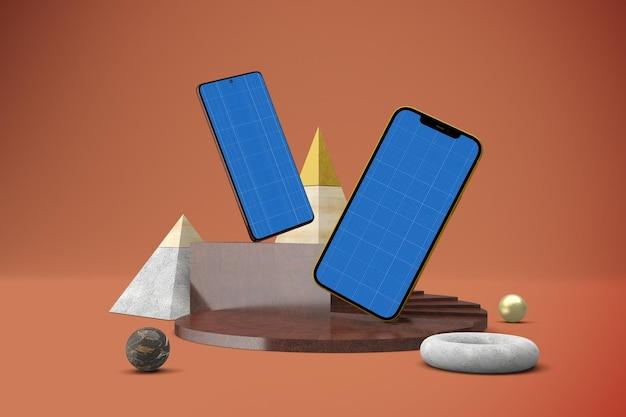 抽象スマートフォン