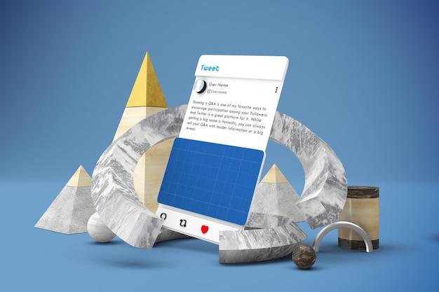 抽象ソーシャルメディアv2モックアップ