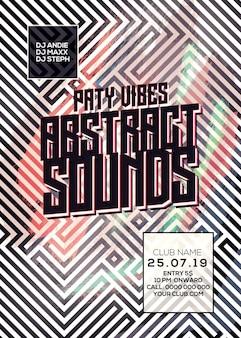 Абстрактные звуки dj flyer
