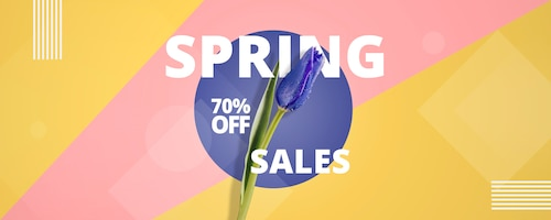 Abstract spring sales template