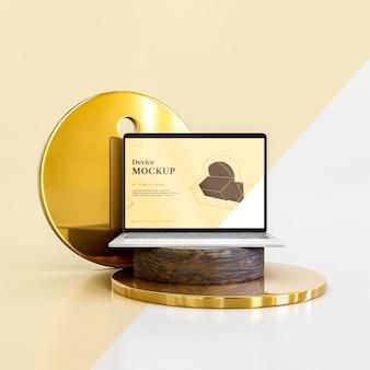 추상 돌과 노트북
