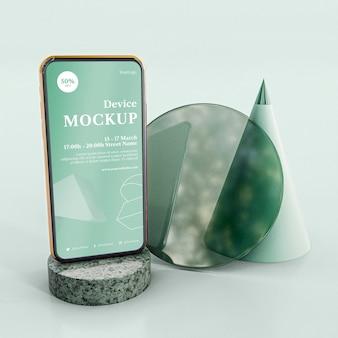 抽象的な石とモバイル