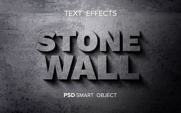 Abstract stone text effect