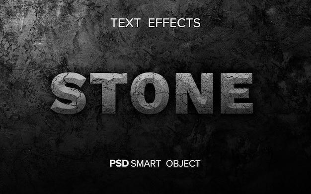 Effetto di testo in pietra astratta