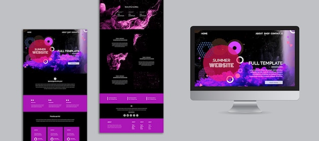 Abstract summer festival website template collection