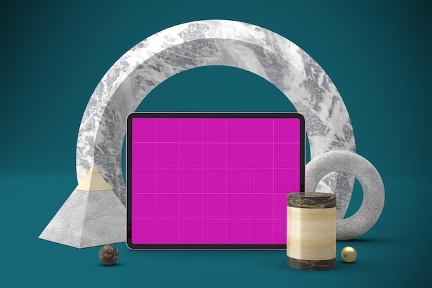 Abstract tablet mockup