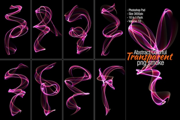 Abstract transparent shape Premium Psd
