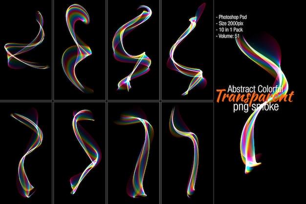 Abstract transparent smoke shape