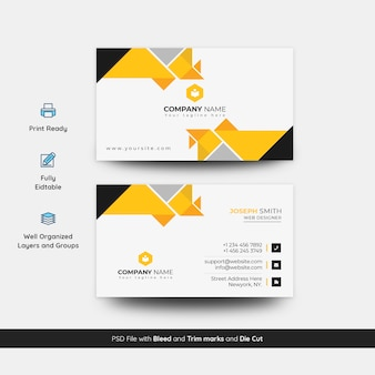 Abstract visiting card template