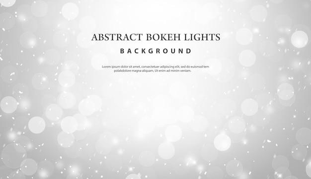 抽象的な白いボケライト効果の背景。 Premium Psd