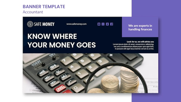 Accountant concept banner template