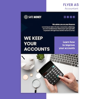 Accountant concept flyer template