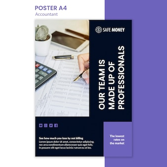 Accountant concept poster template