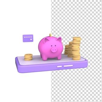 Накопление капитала копилка мобильная концепция управление деньгами инвестиционные монеты онлайн 3d