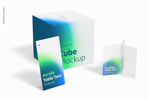 아크릴 테이블 텐트 장면 모형