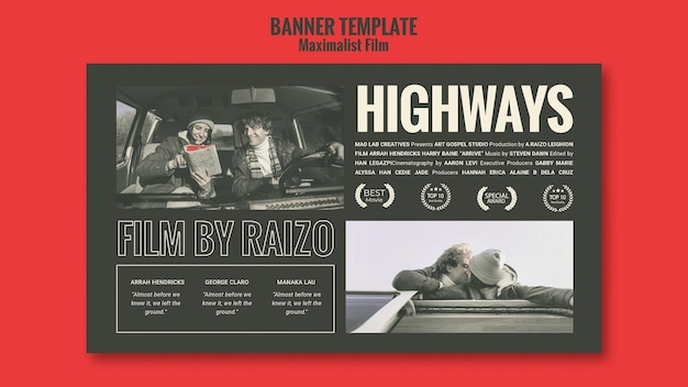 Acting agency ad banner template