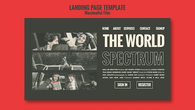 Acting agency template landing page