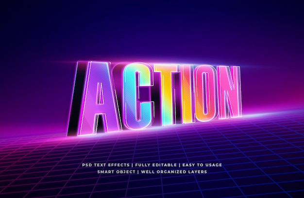 Action 3d text style effect