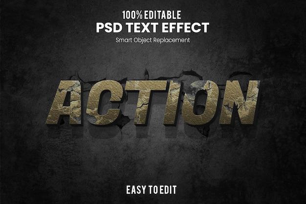 Текстовый эффект действия