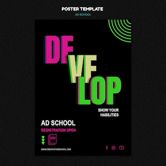 Ad school flyer template
