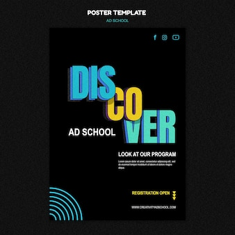 Ad school poster template