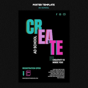 Ad school template flyer
