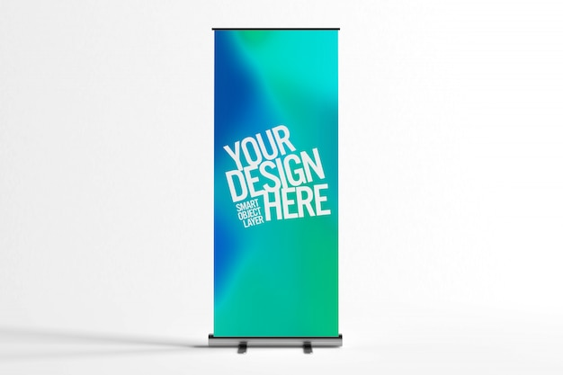 Ad stand banner mock up