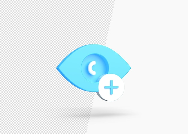 Add hide layered isolated 3d icon