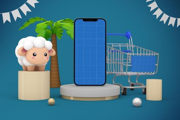 Adha shopping app mockup